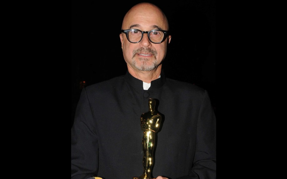Holding the Oscar for The Secret