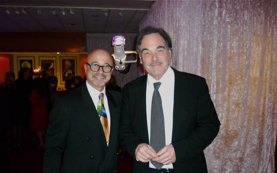 With Oliver Stone at The Academy